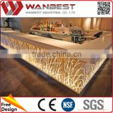 Artificial Stone Popular Pre-Built Led Cocktail Bar Counter