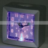 Plastic square luminous table alarm clock ,desk clock
