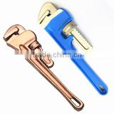Pipe wrench,american type,Aluminum bronze Non sparking tools