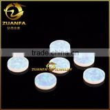 flat round machine cut polished synthetic opal gems colored opal stones