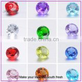 Genuine Semi Precious Yellow Blue Clear Ruby Glass Cubic Zirconia Stones For Jewelry,Loose Gemstone
