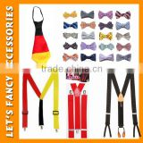 2016 man children party necktie and custom suspender set Newest Men's Neckwear