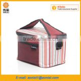 Thermo Thicker Polyester Foil Insulation Zipper Tote Handbag Thermal Lunch Cooler Bags Outdoor Picnic