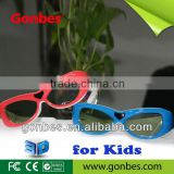 children Mini 3D TV glass Universal 3D Active Shutter Eyewear Glass support Infared and Blueth signal for kids