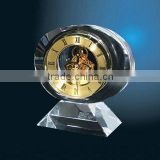 Wholesale Home Decorative Table Clock, Classical Brass with Crystal Desk Mechanics Clock