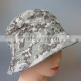 100% cotton washed adults size high quality camo fabric bucket hat,blank bucket hat