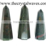 Blood Stone wholesale Pencil 6 to 8 Facets Single Terminated Point Khambhat Gujarat India crystal waves