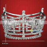 fashion rhinestone tiara full round pageant crown