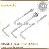 FACTORY SUPPLY HIGH QUALITY ZINC/HDG ASSEMBLED WITH WASHER AND NUT L BOLT/ M8 ANCHOR BOLT
