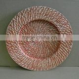 Rattan/bamboo charger plate