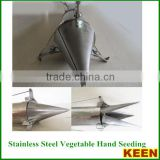 Stainlsteel vegetable manual/hand seed planters, hand seeding planter