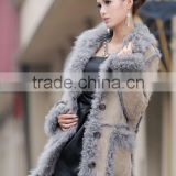 European Style Lamb Fur With Geniune Leather Jackets Women's Double Face Overcoats Garments