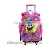 2014 New Fashion High Quality wheeled school backpack, kids trolley school bag with wheels