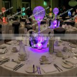 shanghai event rentasl banquet acrylic LED lighted table decorative centerpiece(with ice buckets & crystal ball)