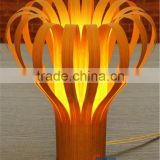 Wood veneer flower shape table lamp,veneer flower shape table lamp,flower shape table lamp T4006-50