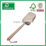Wood Shower Back Spa Scrubber Sisal Bath Sponge WNB027