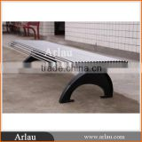 Outdoor Garden Steel And Cast Iron Bench With Hot Dip Zinc