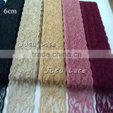 Newest Arrival Fancy Pattern Elastic Lace By The Yard - 6cm beautiful embroidered elastic lace band garment accessories