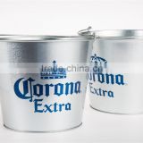 High Quality Chinese Factory Customized Logo Metal Galvanized Beer Ice Bucket