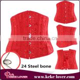 BU2687 New arrival and good quality 24 Steel bone Corsets bandage corset plus size red white black women sexy corsets