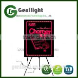 Acrylic Sparkle Neon SMD 5050 RGB Board LED Illuminated Chalkboard Sign