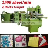 Fastest 2500 Piece Italy Design Embossing Printing Automatic High Speed Banquet Napkin Machine