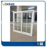 factory hot sales small colored glass sliding window grill design