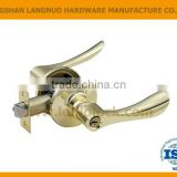 High security zinc alloy antique brass finish reversible tubular entrance door handle lock