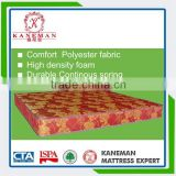 Angola hot sale continuous spring cheap mattress with colorful polyester fabric