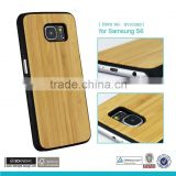 Hard wood cases for Samsung Galaxy S6 case wooden wholesale cell phone accessories Bamboo Wood Phone Case for Samsung