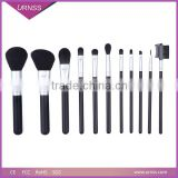 Good quality 12 pcs new naked 3 makeup brushes synthetic hair coffee wooden makeup brush set with iron box