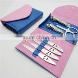 Bonvatt PROFESSIONAL 7PCS/SET Pedicure/Manicure Set Nail cutter Clippers Cuticle Grooming Kit purple STAINLESS