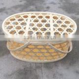 Cheap price oval brown colour handmade weaving bamboo basket