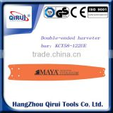 "Top quality garden tool parts double-ended 3/4"" 122"" harvester bar fit for slasher -type timber-processing equipment"