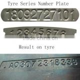 tyre series number steel plate