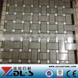 Grey Wood Vein Marble Mosaic Tile 12x12 Basket Weave polished price