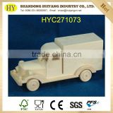 Hot sale unfinished wood toy truck for kids