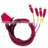 Scart male to 4RCA male cable VK30416