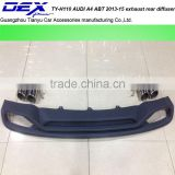 PP Car Rear Diffuser for Audi A4 ABT 2013-15 Rear Bumper Diffuser