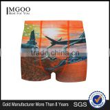 MGOO Factory Made Custom Printed Mens Underwear Cotton With Sublimation Boxer Brief For Men