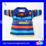 kids clothes long sleeve polo shirt high quality cotton fashion stripe kids polo shirt for children