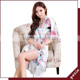 Bridal silk robe Custom made women robe Long Nightgown 0609001