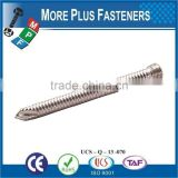 Made in Taiwan Titanium Locking Compression Temporary Threaded Special Self Tapping Screw