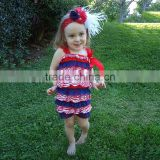 girls bodysuit with bow boutique remake newborn baby girl lace romper 4th of July Red, White and Blue Baby Romper Lace