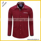 Custom Solid Color Long Sleeve Official Shirts For Men
