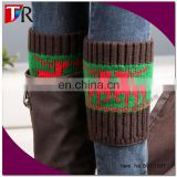 wholesale lady vogue style knit moose boot cuffs for christmas
