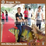 2015 hot sales dinosaur kiddie rocking ride with music