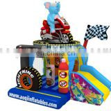 2016 new design moto racing inflatable combo car