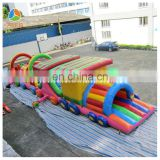 train big high quality inflatable obstacle with price