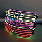 el glasses glowing light up high quality shutter el wire party Glasses
